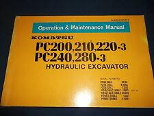 KOMATSU PC200-3 PC210-3 PC220-3 PC240-3 PC280-3 OPERATION & MAINTENANCE MANUAL