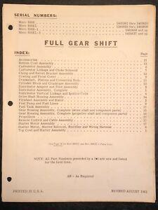 1961 Merc Mercury 800E, 800EL, 800E-1, EL-1 Outboard Parts Manual List Catalog
