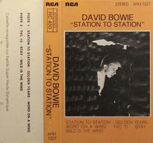 David Bowie Station To Station cassette tape France; RCA; APK1 1327 rare