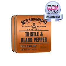 The Scottish Fine Soaps Company Thistle & Black Pepper Face & Beard Soap Tin
