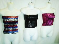 Sequin Tube Top / Mini Skirt - Sequined Top or Bottom - One Size Fits Most