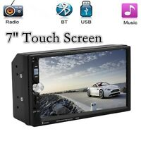 2-Din7''HD Touch Screen Bluetooth Car Radio Stereo Head Unit MP5/MP3 /USB/AUX/FM