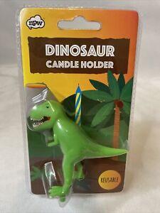 Dinosaur Reusable Candle Holder Birthday Dino Party NPW Animal Kids Free Ship!