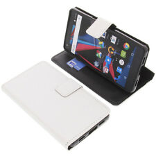 Custodia Per Archos Diamond 2 Plus Book-Style Protettiva Cellulare Libro Bianco