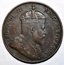 1903 Hong Kong 1 Cent KM# 11 High Grade 1903年香港一仙铜币