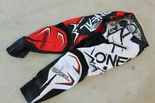 Oneal Hardware Motocross Race Pants Black Red Adult Size 30 Dirtbike MX ATV