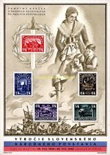 EBS Czechoslovakia 1945 1st Anniversary Slovak Uprising Sheet Block 7 MNH**