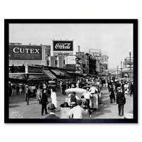 Vintage Atlantic City Boardwalk Fair Jersey 12X16 Inch Framed Art Print