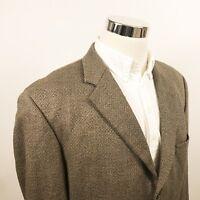 Hugo Boss Mens 44L Einstein Sport Coat Brown Speckle Cashmere Blend Three Button