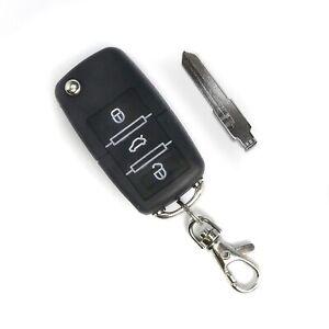 Handsender mit 3 Knopf Funktion, Klappschlüssel mit Platz für Transponder, schwa