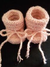Babyschuhe Erstlingsschuhe handgestrickt Wollsocken Babystiefel 20% Naturseide