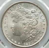 GEM QUALITY SILVER PCGS Certified MS65 Morgan Silver Dollars 1898