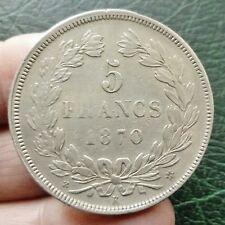 5 Francs Cérès - Type sans Légende - 1870 K Bordeaux - Différent Etoile / M à 4h