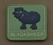 "PVC / Rubber Patch ""Blacksheep"" with VELCRO® brand hook"