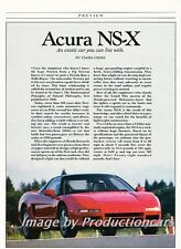 1989 1990 Acura NSX Honda Original Car Review Print Article J736