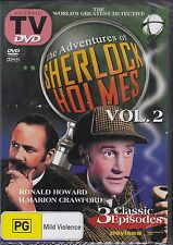 THE ADVENTURES OF SHERLOCK HOLMES VOL 2 - DVD - 3 CLASSIC EPISODES NEW