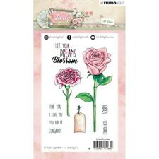 New Studio Light Janneke Brinkman A6 Rubber Stamp #388 FLOWER SET free US ship