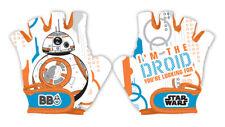 Disney STAR WARS BB8 Kids Bike Cycle Padded Gloves Half Finger Bicycle Size S