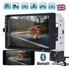 """7"""" Car Stereo Bluetooth Radio MP5 MP3 Player Double DIN Touch Screen +Camera UK"""