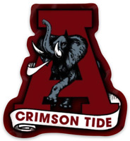 Alabama Crimson Tide Letter with Big Al in middle of logo Type MAGNET