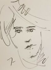 JOSE TRUJILLO Original Charcoal - Paper Sketch Drawing 9X12  PORTRAIT LINE ART