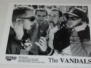 """THE VANDALS Autographed Talent Agency Photo 8 x 10"""""""