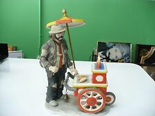 Limited Edition Flambro Ceramic Clown With Ekj Mobile Bbq