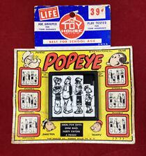 Vintage 1960'S Roalex Popeye Olive Oyl Slide Puzzle On Original Card Stock
