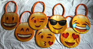 Wholesale Job Lot Bundle of 20 Emoji fabric large shoulder bags - new