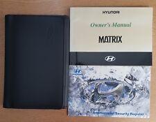 HYUNDAI MATRIX OWNERS MANUAL HANDBOOK WALLET 2001-2005 PACK D-899