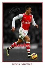 ALEXIS SANCHEZ - ARSENAL SUPERSTAR LARGE SIGNED POSTER PHOTO PRINT - UNIQUE ITEM