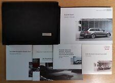 GENUINE AUDI A6 AVANT OWNERS HANDBOOK WALLET NAVIGATION 2008-2011 PACK G-800