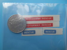 (tr01) DINKY TOYS 442 LAND ROVER MOTORWAY RESCUE set stickers