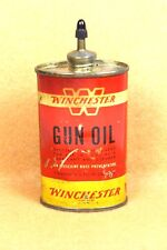 Vintage Winchester Lead Top Gun Oil Tin Can 3 fl. oz. Empty