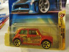 Hot Wheels Morris Mini #096 (card dented)