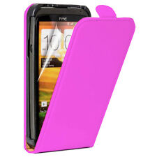 CASE COVER PU PINK STYLE GENUINE LEATHER + FILM FOR HTC ONE SV