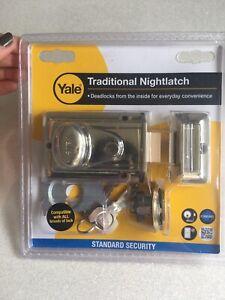 Gold Yale Traditional night latch rim cylinder barrel lock 60mm