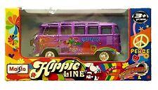 Hippie Lines Maisto Purple Volkswagen Van