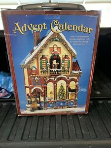 Christmas Advent Calendar #663167 Costco Carolers Victorian House Doors New SFH