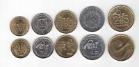 WEST AFRICAN STATES 5 DIF UNC COINS SET 5 - 100 FRANCS 2010 - 2012 YEAR