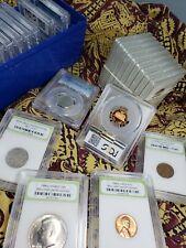 ✯ Lot 6 slabbed U.S. Coins- 2 BU coins, 2 older coins, 2 PCGS PR69DCAM✯