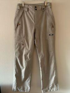 Mens Oakley Thunder Gore-Tex BioZone Snowboard Ski Pants Tan Size Small S