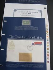 First Edition STAMPS: The STORY of CANADA Vol. 1 1983  (22) Collector Folios
