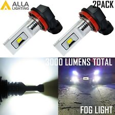 AllaLighting 3000LM H8 LED 6000K Xenon White LED Fog Light Lamp Bulb Replacement