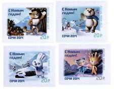 2013. Russia. Sochi-2014. Happy New Year! Mascots. Set