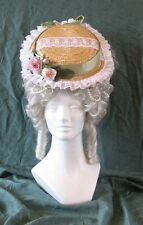 18th Century Reproduction Lady's Straw Hat, for Theatre, Pirates, Colonial Era