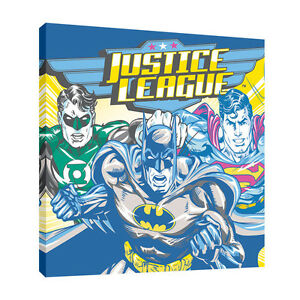 Justice League Canvas Print ArtReproduction (30cm x 30cm-11,8 inch x 11,8 inch)