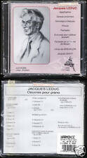 """JACQUES LEDUC """"Oeuvres pour Piano"""" (CD) 1993 NEUF/NEW"""