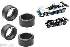 Nuevo Scalextric Repuestos W8461 Trasero Neumáticos para Cadillac LMP1 Pack de 4
