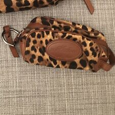 DOLCE AND GABBANA LEOPARD PRINT SMALL MAKE-UP / TRAVEL BAG